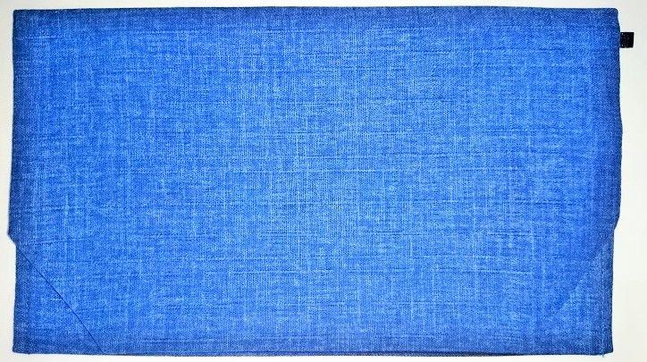 037AO-LWA-A 御朱印帳袋(御朱印帳約18.5cm×12.5cm) 麻 青色