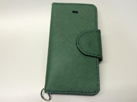 グリーンスマホレザーケースiPhoneなど各スマホ対応