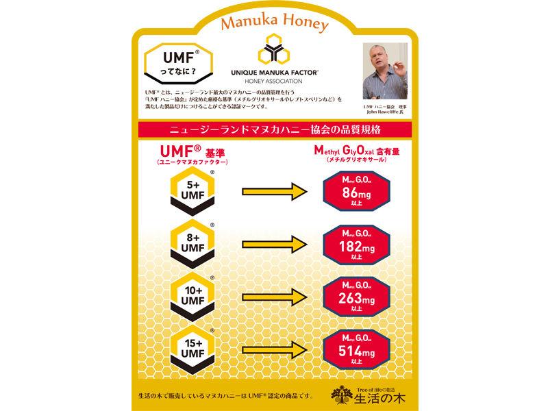 生活の木  マヌカハニー UMF5+ お得500g