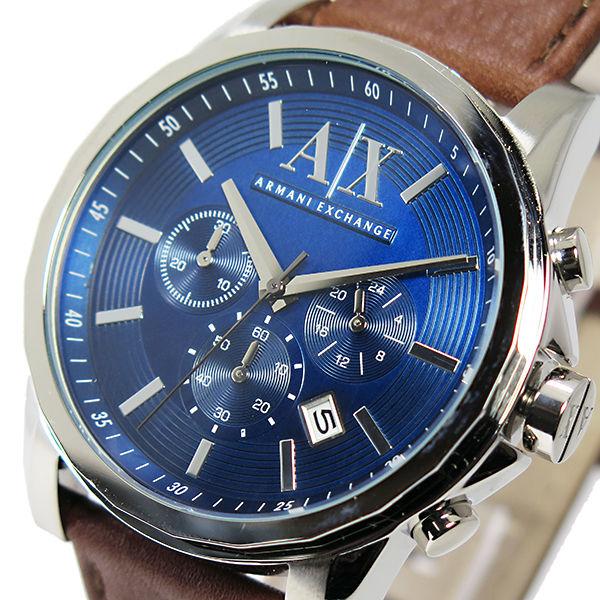 アルマーニ エクスチェンジ クオーツ クロノ メンズ 腕時計 AX2501 ブルー
