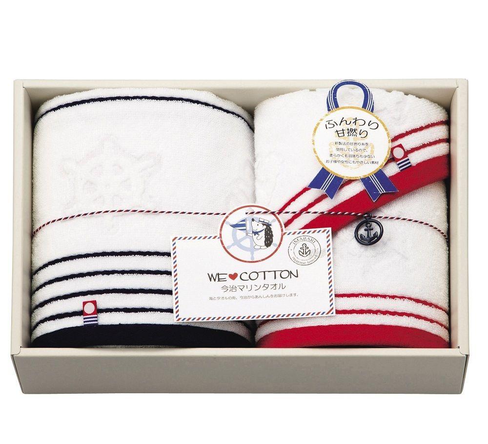 imabari towel (今治タオル) WE LOVE COTTON マリン柄 タオルセット