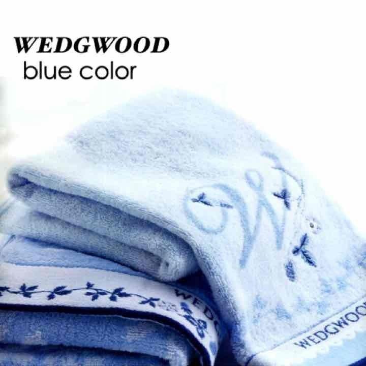 WEDGWOOD ウェッジウッド ブルーデザイン フェイスタオル 2P