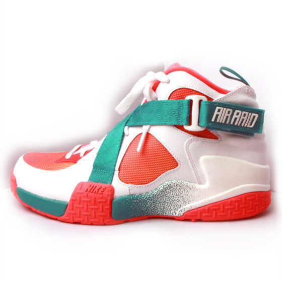 NIKE AIR RAID BR WHITE/ATOMIC MANGO-TURBO GREEN-LASER CRIMSON