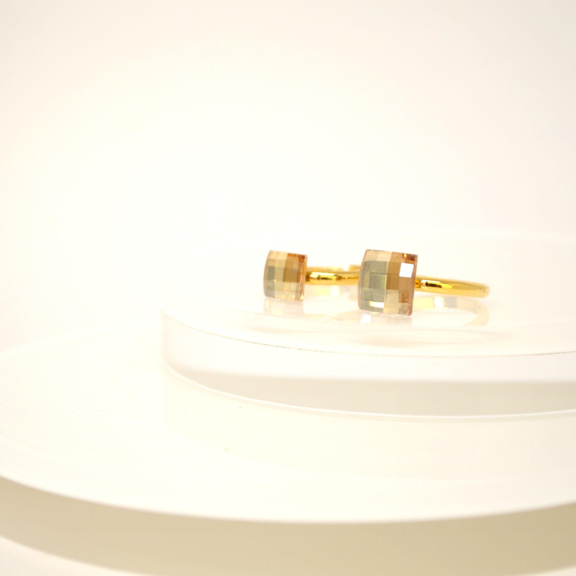 Swarovski(Golden Shadow )Ring(8mm)