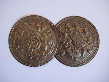 花嫁道具の枕トトップバンダルの飾り金具