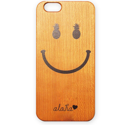 No.INFINITE aloha smile wood case by maw 3D ハード ケース 対応4機種(iPhone機種)