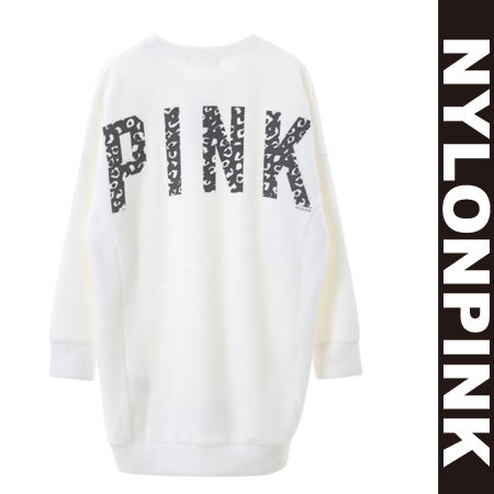 韓国の人気ブランド「ナイロンピンク」のスウェットトレーナー スウェットトレーナー ロング丈(長袖)レディース|韓国ファッションブランドナイロンピンク
