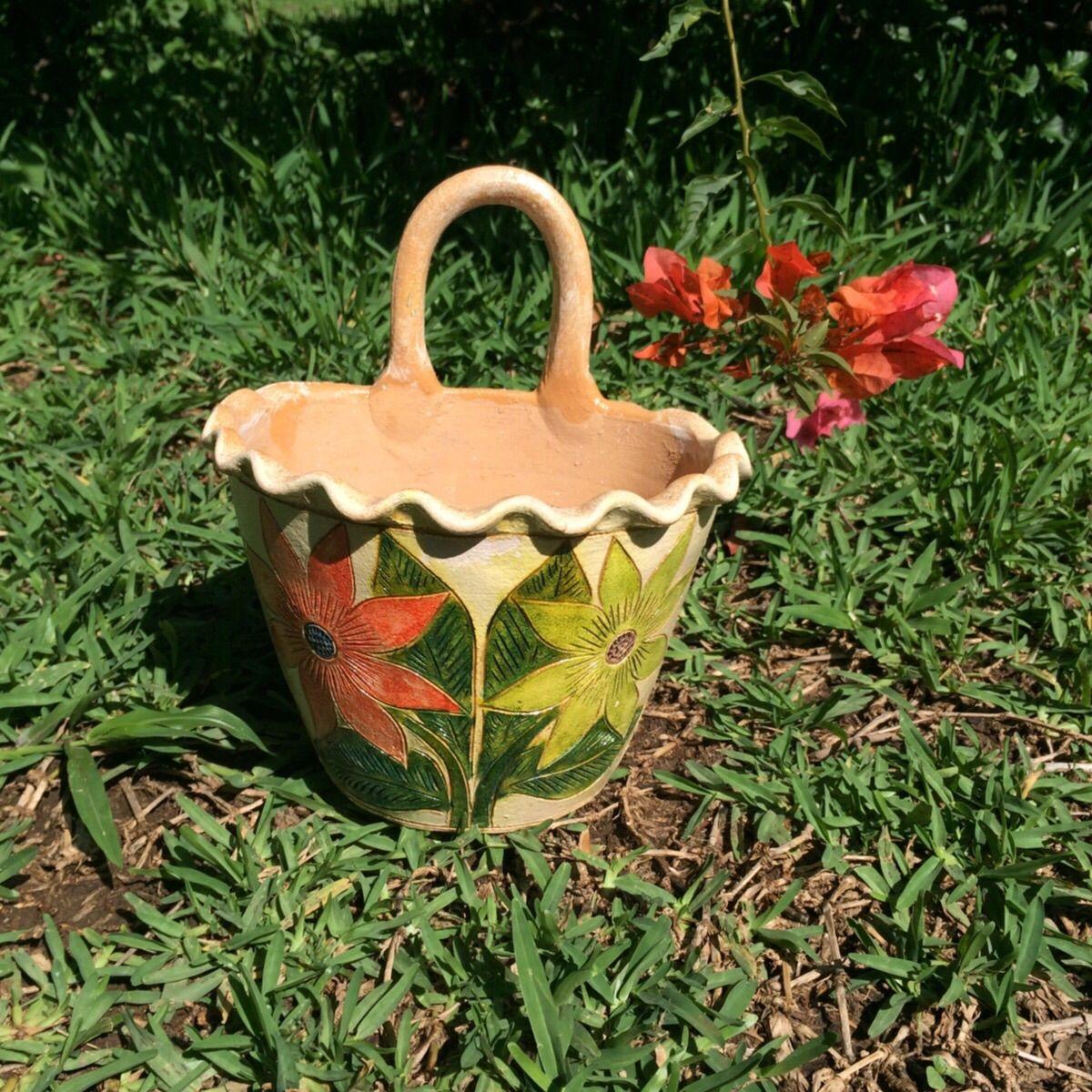 メキシコ陶器製プランター