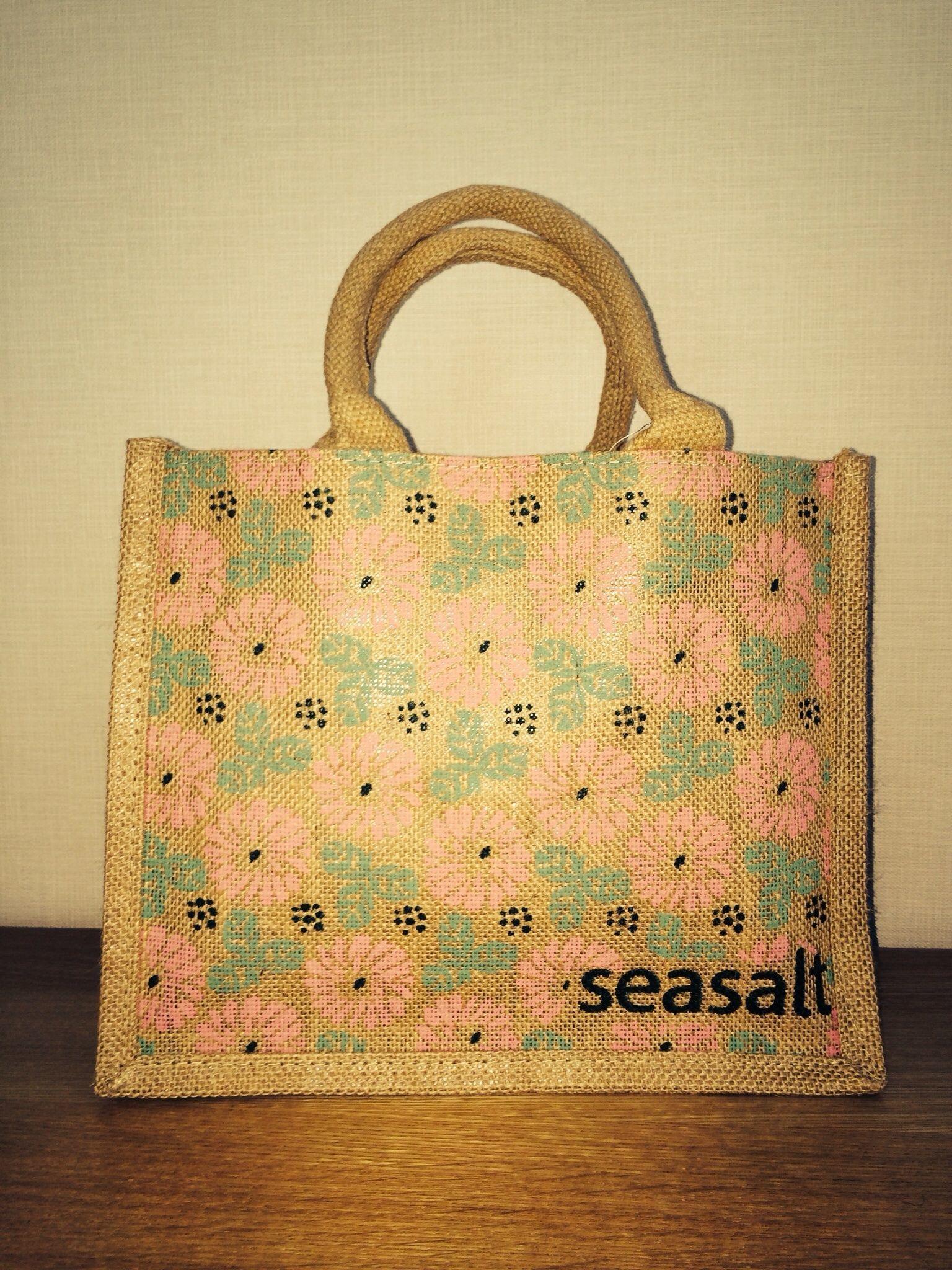 エコバッグ(Sea Salt)シーソルト ※スモール(ピンク系)