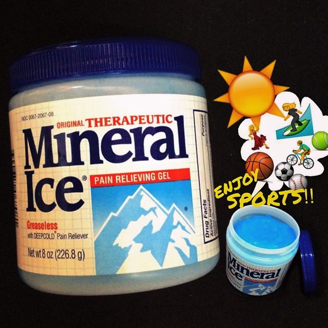 Mineral Ice(R)-pain relieving gel-