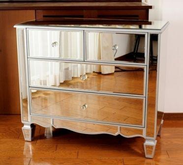【ミラー家具】 チェスト 鏡 ディスプレイ台KZ8-MF021