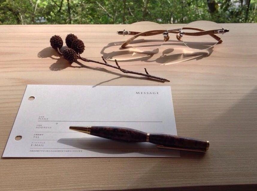 屋久杉のコブのボールペン