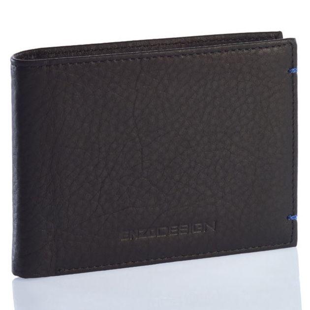 ENZODESIGN ソフトレザー純札二つ折り財布(小銭入れ非搭載)
