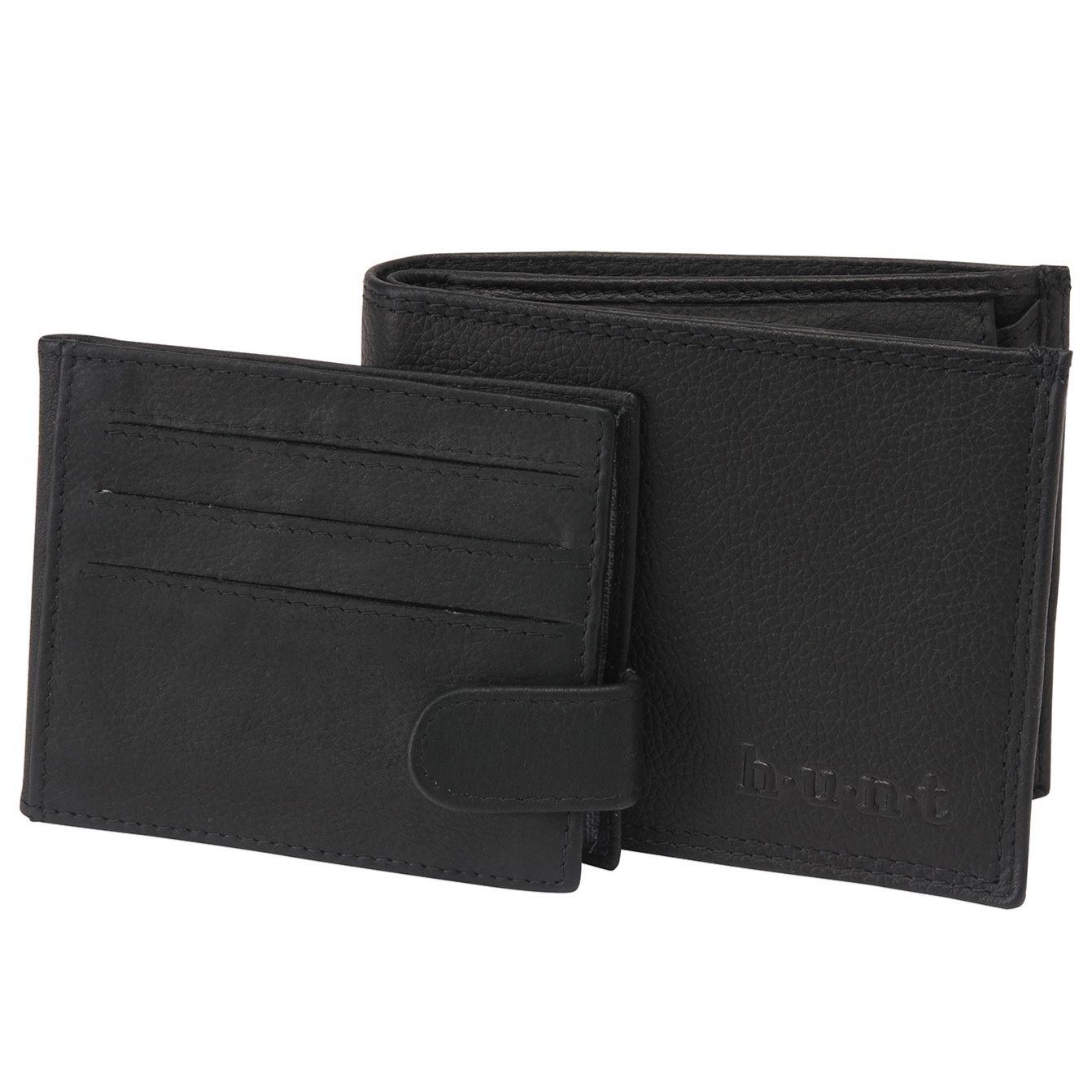 h.u.n.t 撥水レザー二つ折り財布
