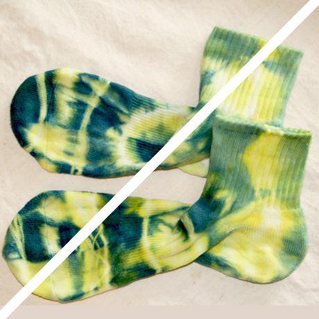 藍+福木organic靴下25~27cmメンズ