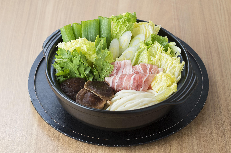 大盛うどんすき+野菜セット(4人前)(12月~4月)