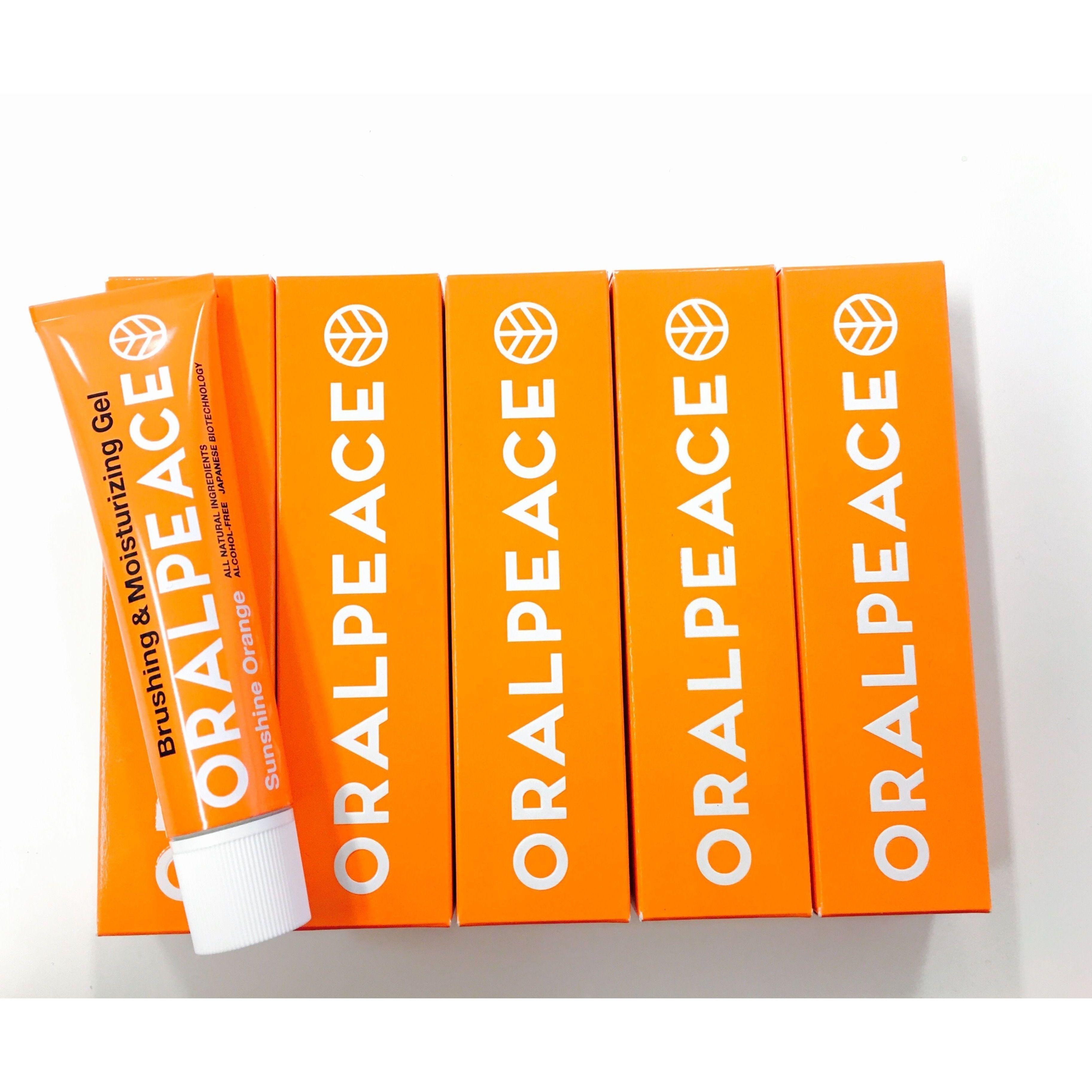 【お得な5本セット!!】オーラルピース サンシャインオレンジ 歯みがき& 口腔ケアジェル 5本セット