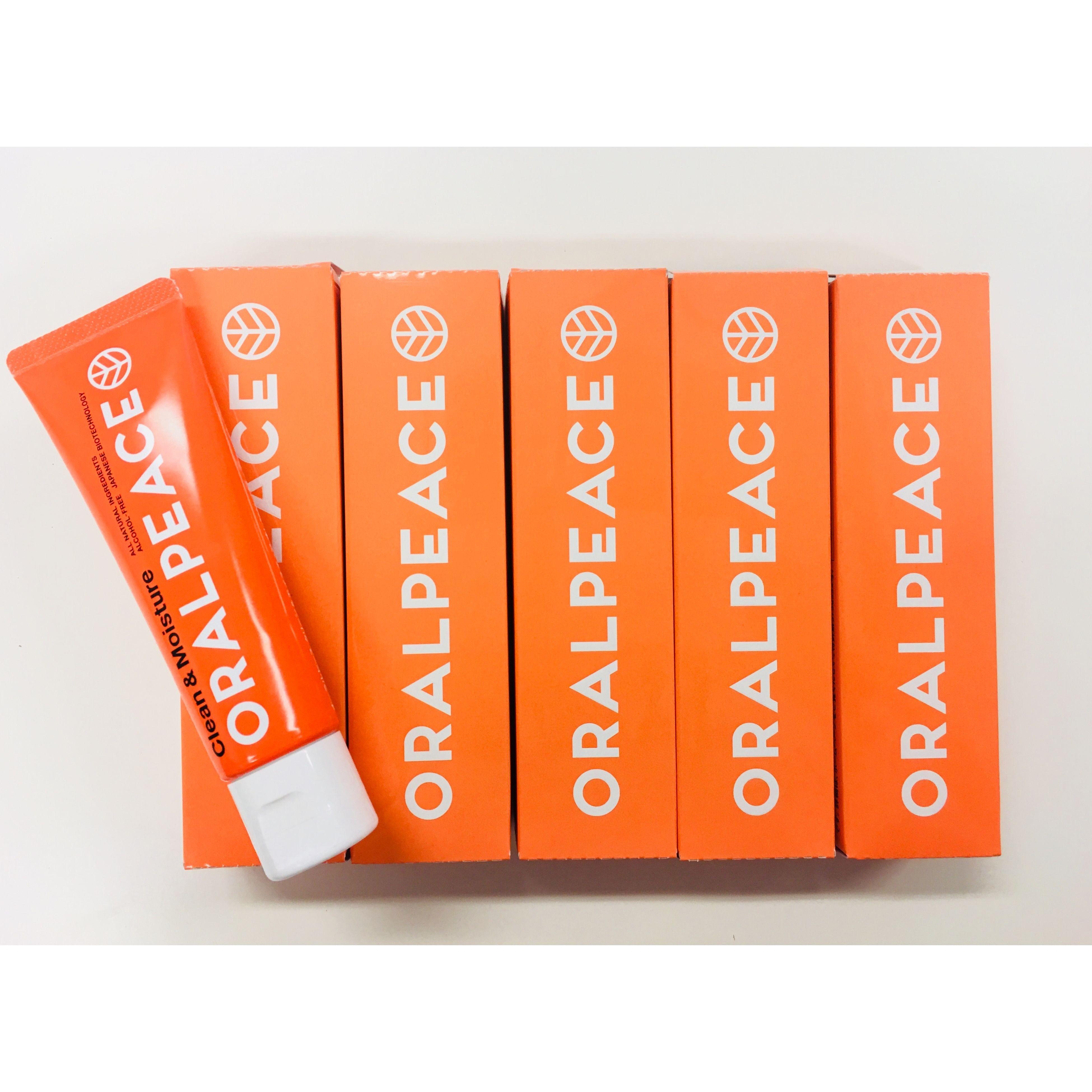 【NEW!!!6/4発売!!!! お得な!!5本セット!!】オーラルピース クリーン&モイスチュア オレンジ 5本セット