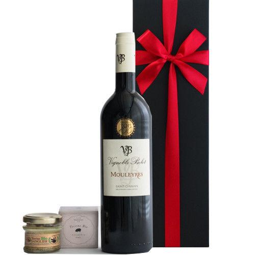 バレンタインに 赤ワインとテリーヌのセット フランス ラングドック・ルーション AOCサン・シニアン 辛口 750ml イノシシのテリーヌ 仏産オーガニック100% 45g ギフト箱入 ラッピング付