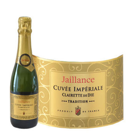 フランススイーツとスパークリングワインのギフト ベビーボトルのフルーティーなスパークリングワイン200ml とアーモンドチョコレート..