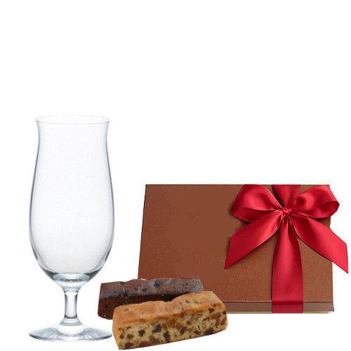 バレンタインギフト ビールグラス チョコレート焼菓子セット 詰め合わせ ギフト箱入り