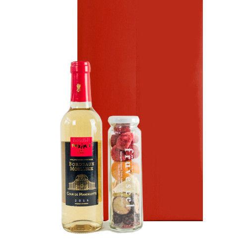 ワインとスイーツギフト 砂糖不使用 無添加 フリーズドライフルーツ フランス ボルドー白ワイン マキシム・ド・パリ
