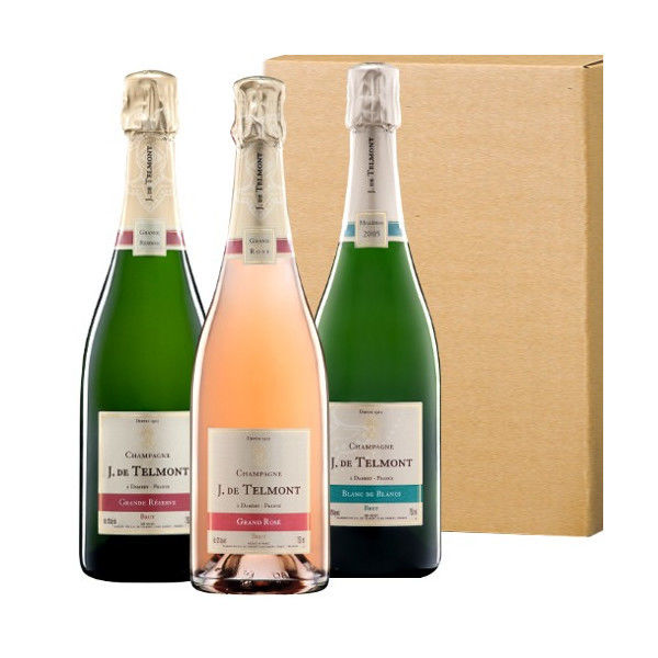 【日本未発売 !ジャック・ド・テルモン高級シャンパンの飲み比べ】「グラン・レゼルブ・ブリュット」「グラン・ロゼ・ブリュット」「ブラン・ド・ブラン 2007」