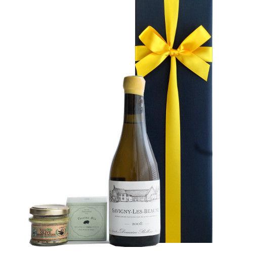 グルメセット オーガニック白ワイン コルシカ島のテリーヌ 豚肉とオリーブのハーブ風味 ビオ100% フランス ブルゴーニュ ハーフボトル 375ml