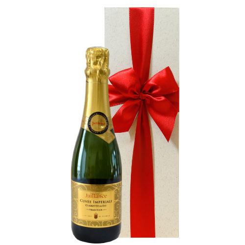 フランス スパークリングワイン「キュヴェ・インペリアル・トラディション」コート・デュ・ローヌ、AOCクレレット・ド・ディ ジャイアンス 375ml
