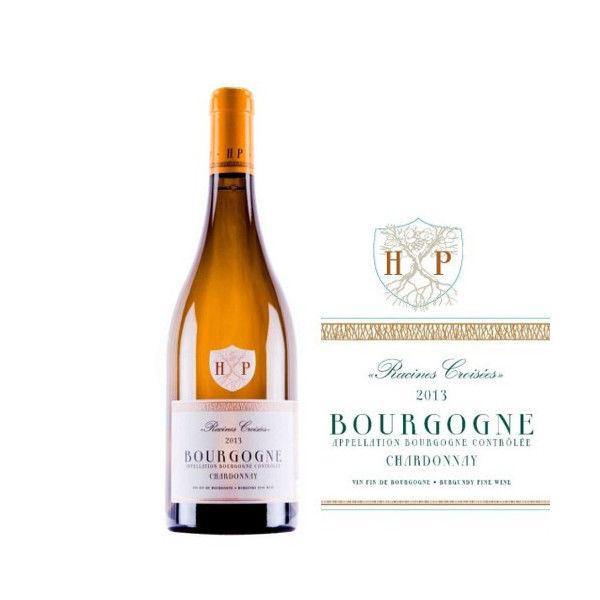 フランス、ブルゴーニュの高級辛口、白ワイン。「シャルドネ」2013年 750ml