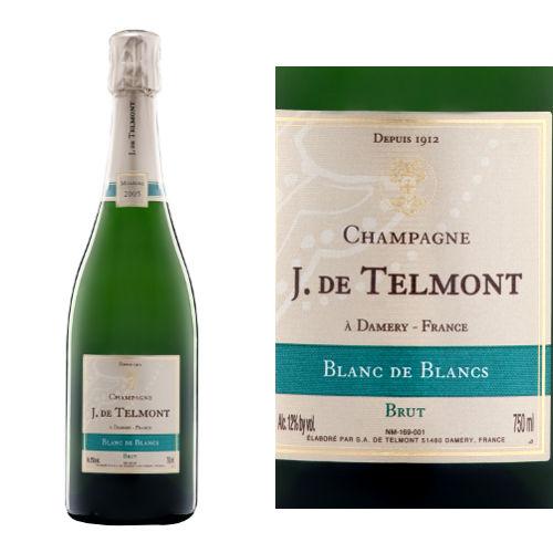 フランス、ヴィンテージ・シャンパン、ジャック・ド・テルモン「ブラン・ド・ブラン」2007年 辛口 750ml