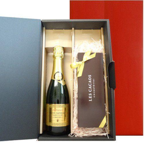 ワインとスイーツのギフト フランス産 スパークリングワイン  東京 LES CACAOS 5種類の焼菓子 ギフトセット  敬老の日 誕生日 お中元