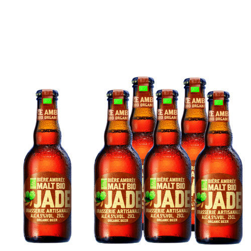 在庫一掃セール中!輸入ビールギフト 北フランスのBIOラガービール ブラッセリー・カステラン 「ジャド アンブレ」 琥珀色に輝くアンバータイプの詰合せセット(250ml×6本)