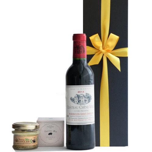父の日ギフト ワインとおつまみセット フランス ボルドー 赤ワイン ハーフボトル 375ml 辛口 2014年 フランスのテリーヌ イノシシと豚肉 オーガニック