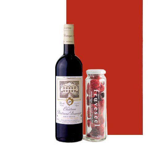 ワインとスイーツのギフト ボルドー赤ワイン ハーフボトル フリーズドライのミックスベリー 砂糖不使用 無添加 ギフト箱入り 誕生日プレゼント 内祝  敬老の日