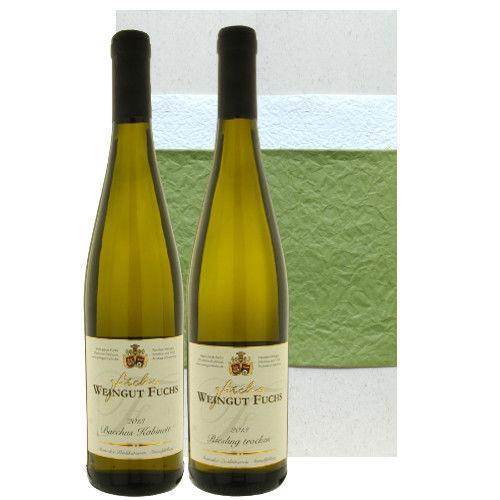 【ドイツ白ワインセット】完璧なバランスのラインヘッセンの「リースリング」と華やかで繊細な甘みのプファルツの「バッカス」、(750ml×2)、辛口