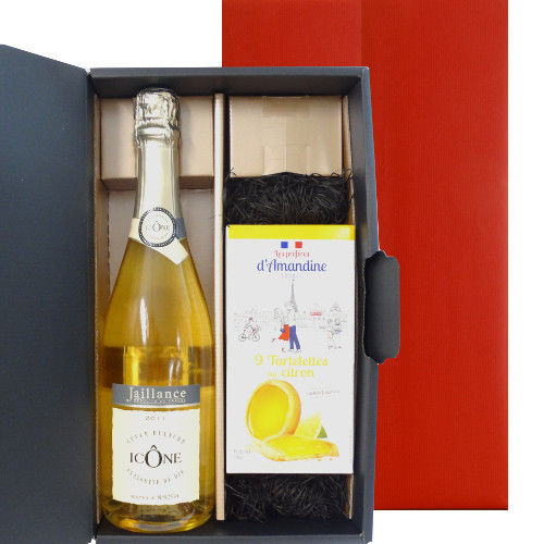 フランス コート・デュ・ローヌのスパークリングとレモンタルトのクッキーセット