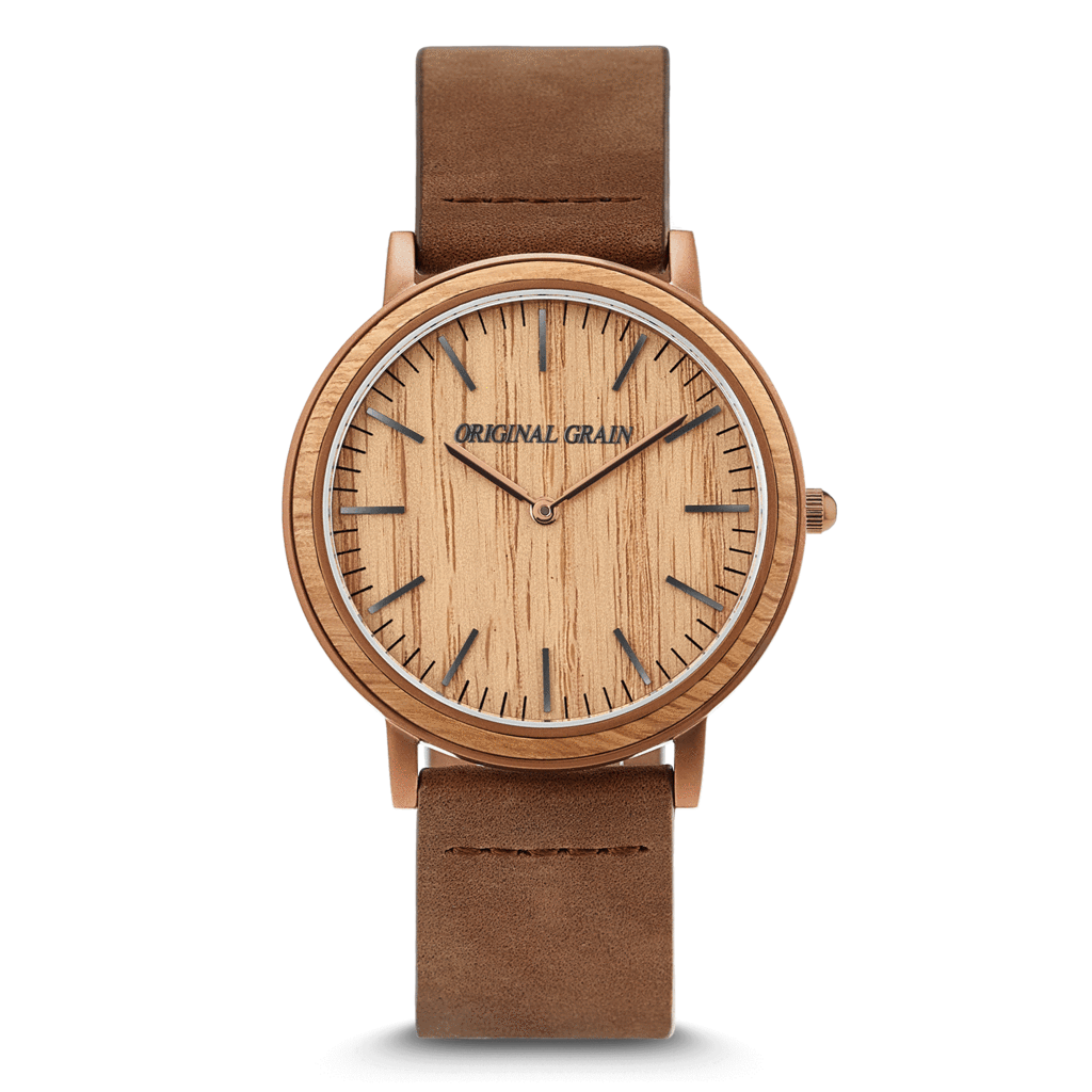 The Minimalist - Whiskey/Wood Dial
