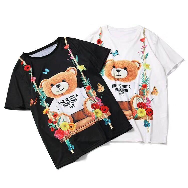 MOSCHINO  モスキーノ    半袖   Tシャツ    プリント    ima-5006