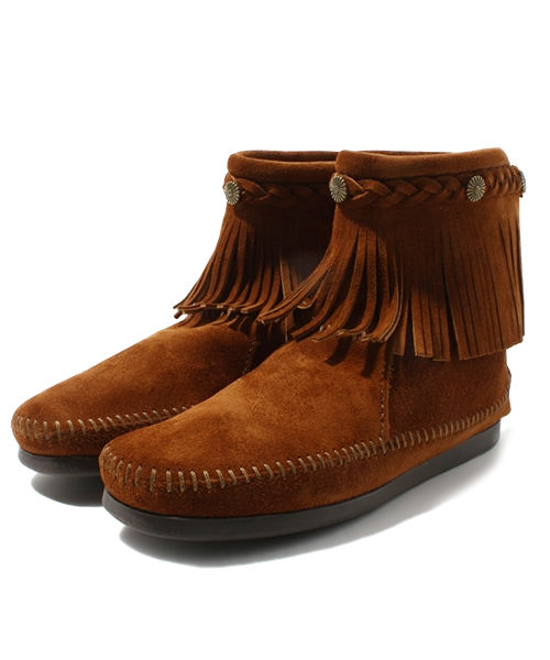 【MINNETONKA】HI TOP BLACK ZIP BOOT 82492927