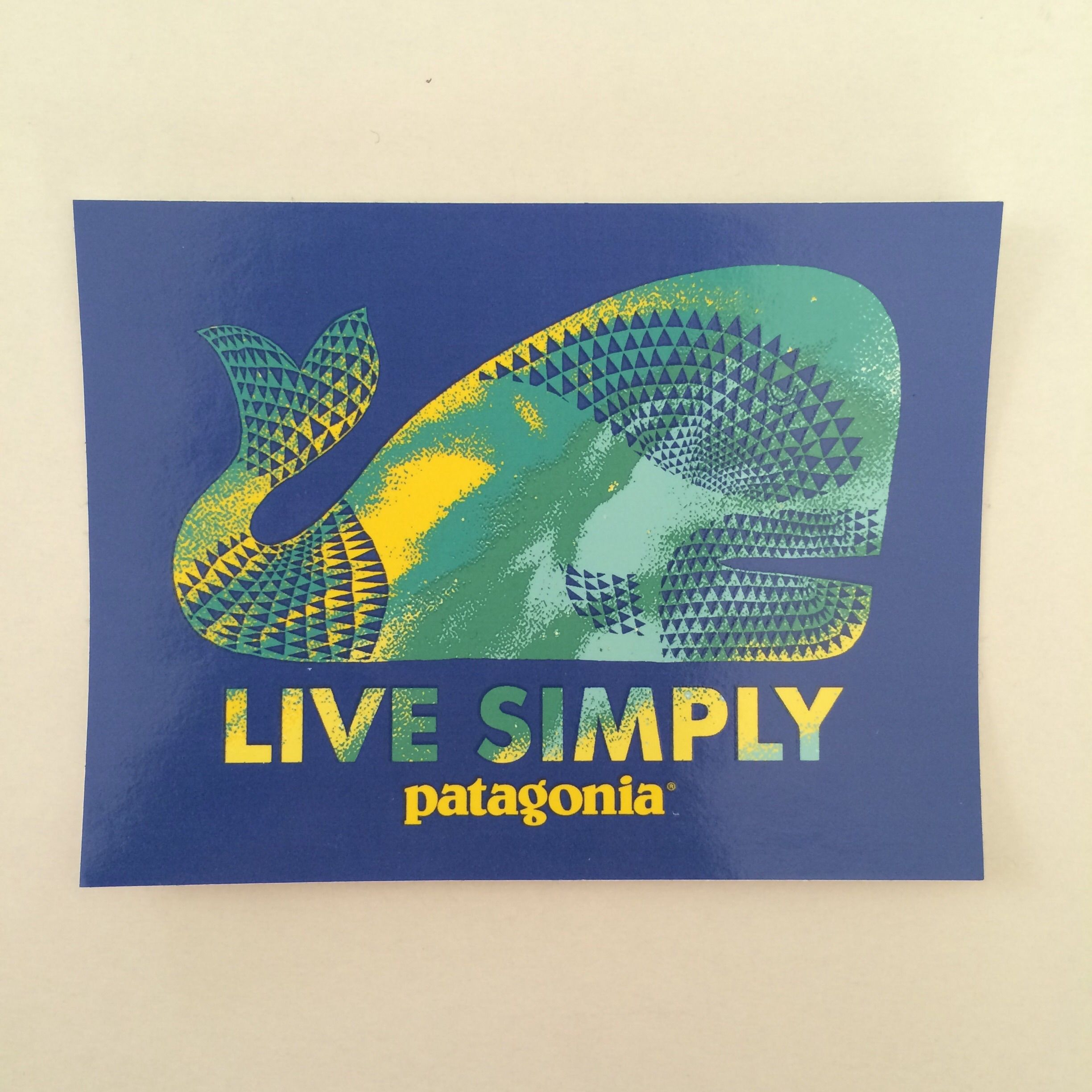 patagonia LIVE SIMPLY ステッカー