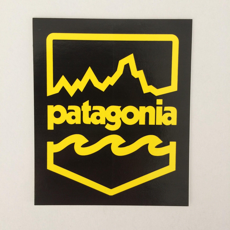 patagonia バッジロゴステッカー
