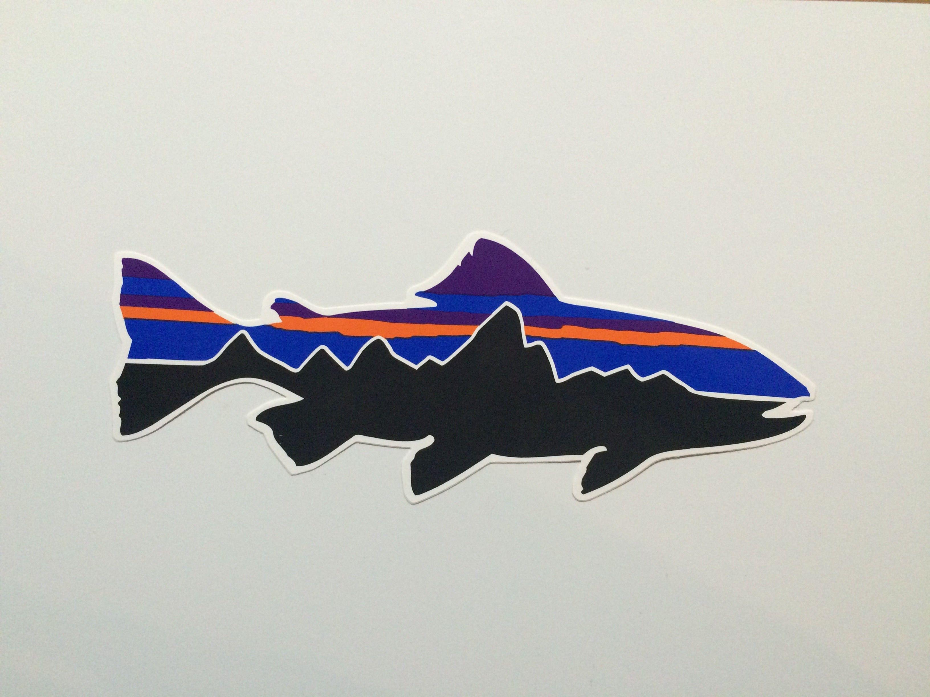 patagonia トラウトフィッツロイ ステッカー