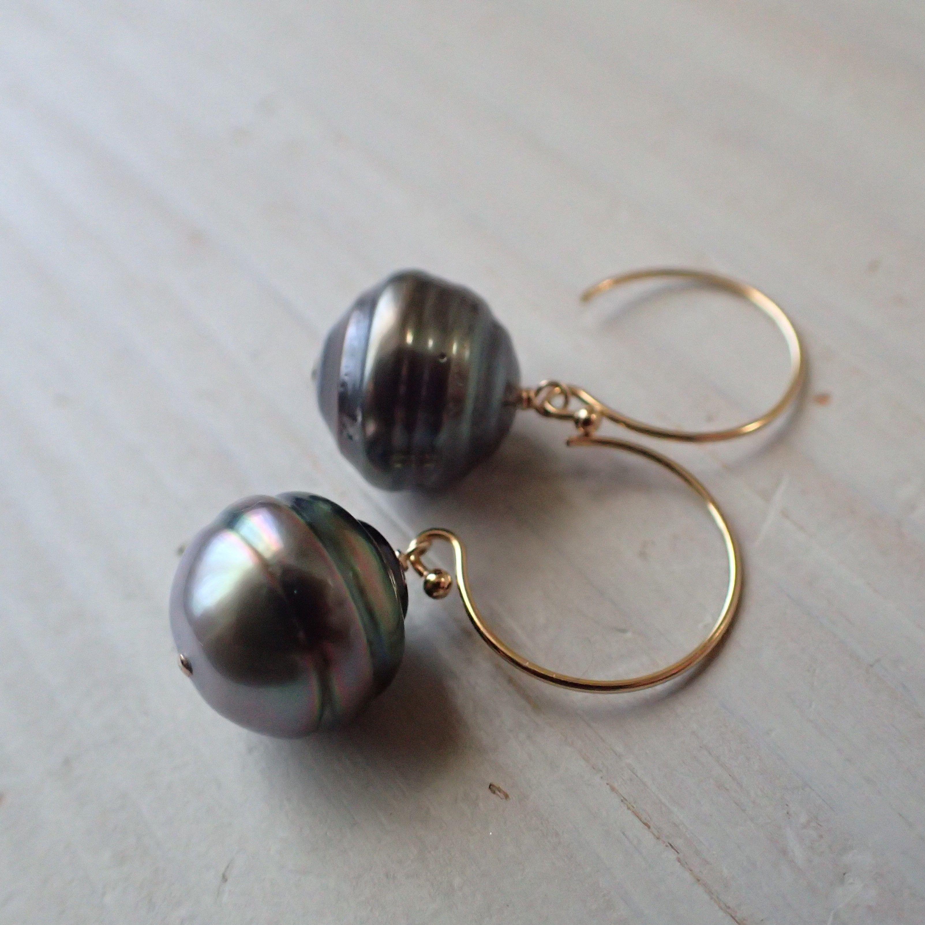 K14GF tahitian pearl pierce