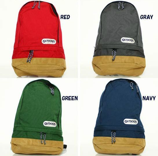 OUTDOOR PRODUCTS TEARDROP BACKPACK  ODCR 07 コーデュラナイロン/スウェード仕様 GREEN