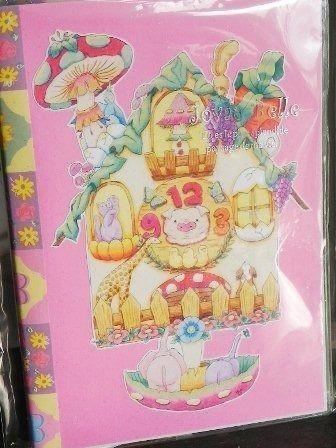 【PoPun.P】動物時計メモ帳 48-0076