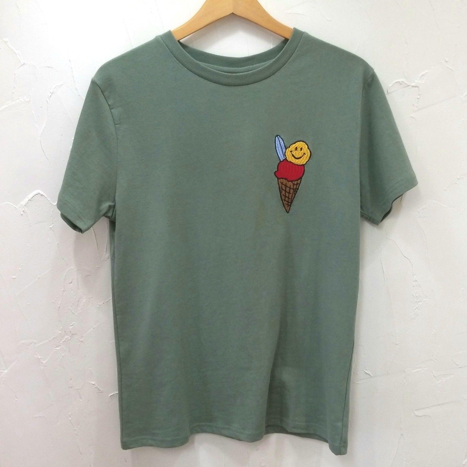 アイス刺繍TEE(ユニセックス)