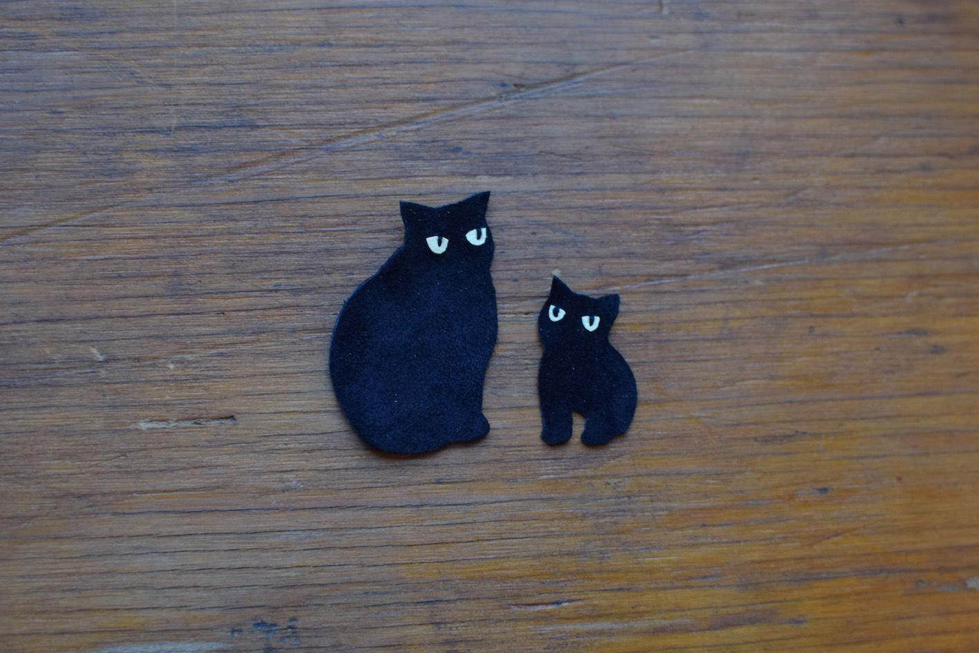 動物ワッペン(ポーチ用) 親子猫