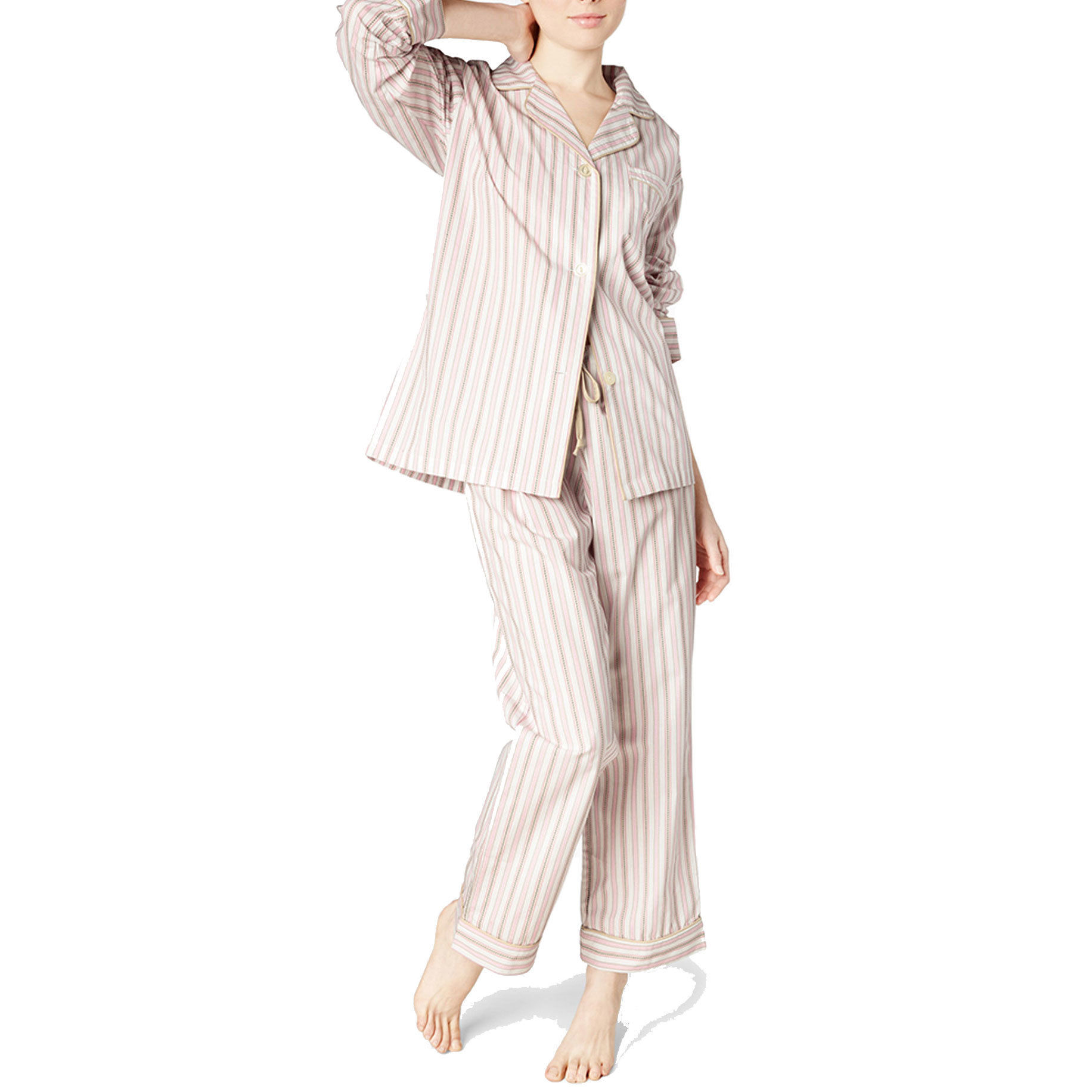 [SALE] BedHead Pajamas レディースコットンパジャマ  Pink Rail Road Stripe