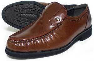 MG(Men's Gear)カンガルー革 モカスリッポン ビジネスシューズ 茶色 23cm、23.5cm、24cm [小さいサイズ紳士靴・革靴/492-BR]